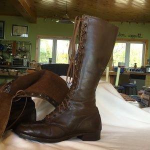 Vintage Leather Boots - Women's